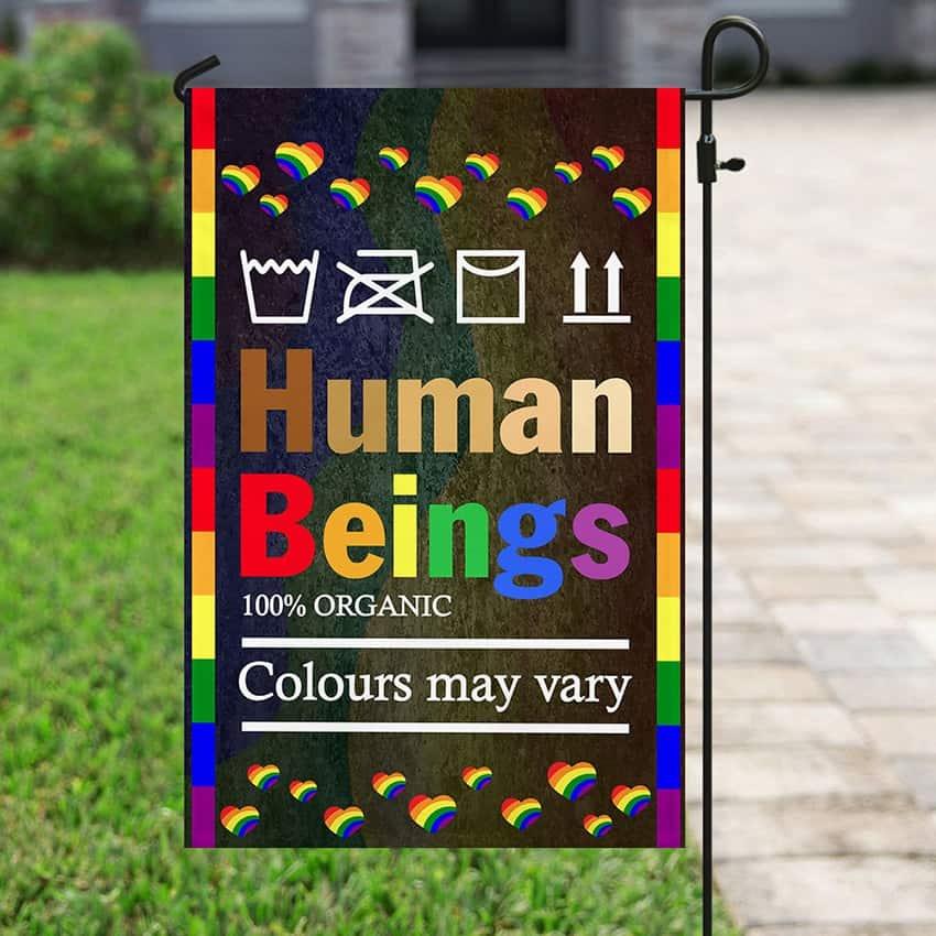 LGBT Human Flag and Garden Banner