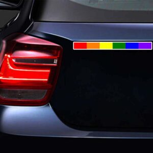 LGBTQ Pride Rainbow Stripe Sticker