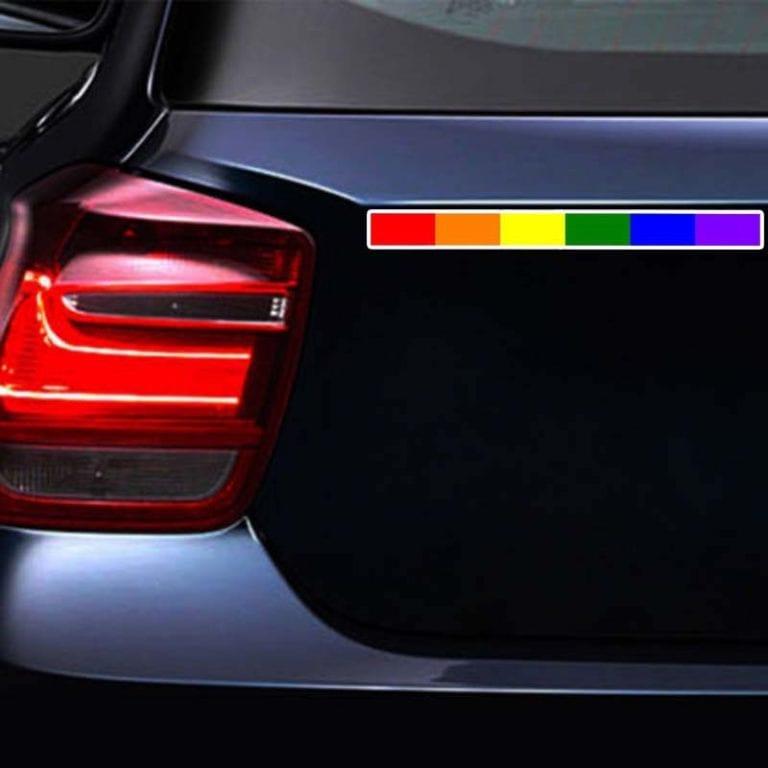 LGBTQ Pride Rainbow Stripe Sticker
