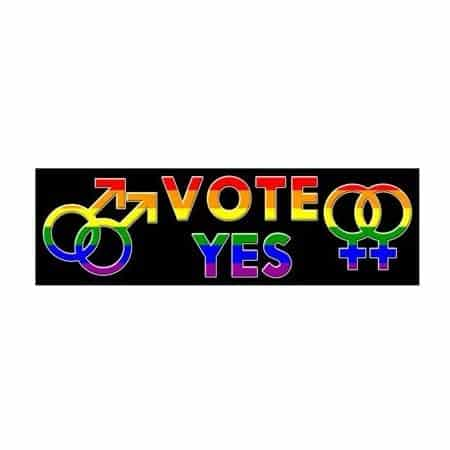 LGBTQ Rainbow VOTE Sticker