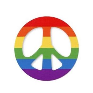 Pride LGBTQ Rainbow Peace Sign Sticker
