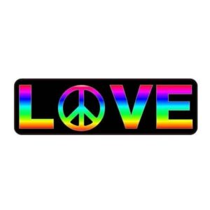 Rainbow LOVE Peace Gay Pride Sticker