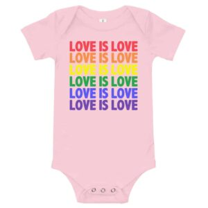 Love is Love Baby Onepiece Pink