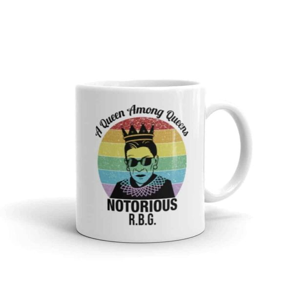 Notorious Queen RBG LGBT Pride Coffee Mug
