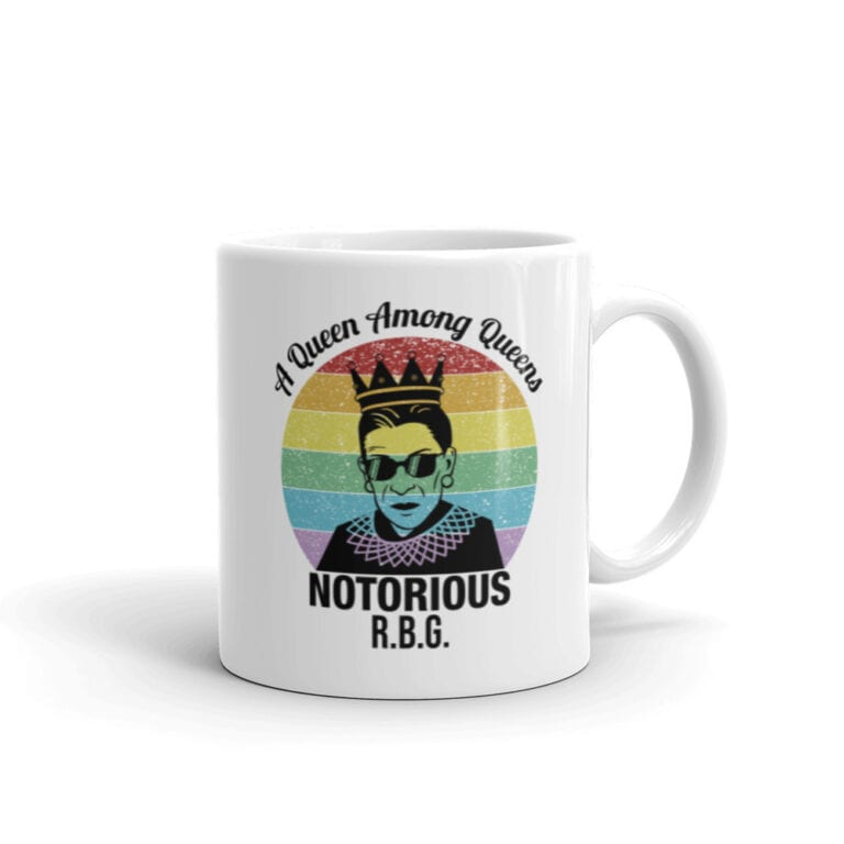 Notorious Queen RBG LGBT Pride Coffee Mug