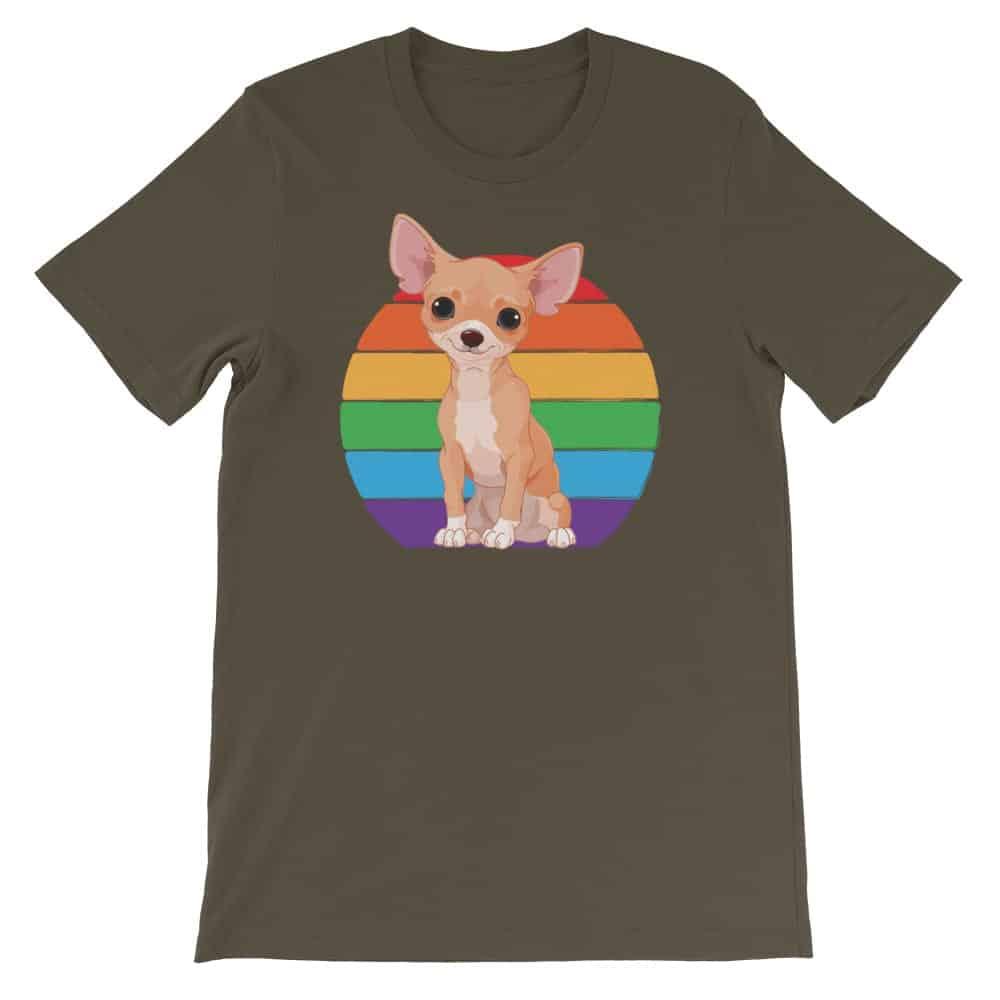 Chihuahua Rainbow Gay Pride Tshirt