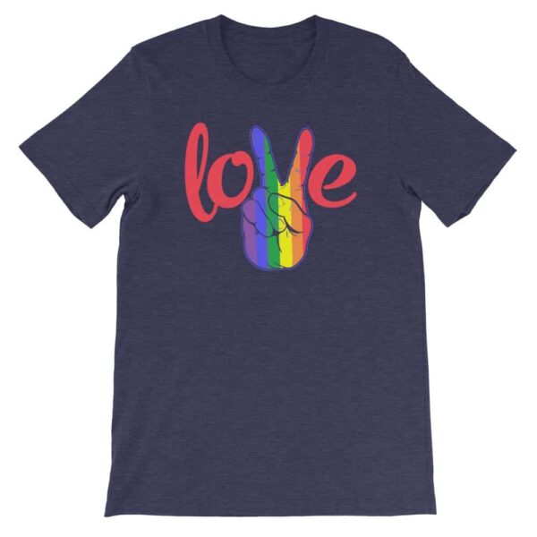 Peace Love LGBTQ PRIDE Tshirt Navy