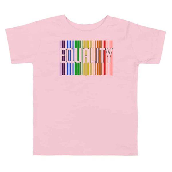 EQUALITY LGBTQ Toddler Tshirt Pink