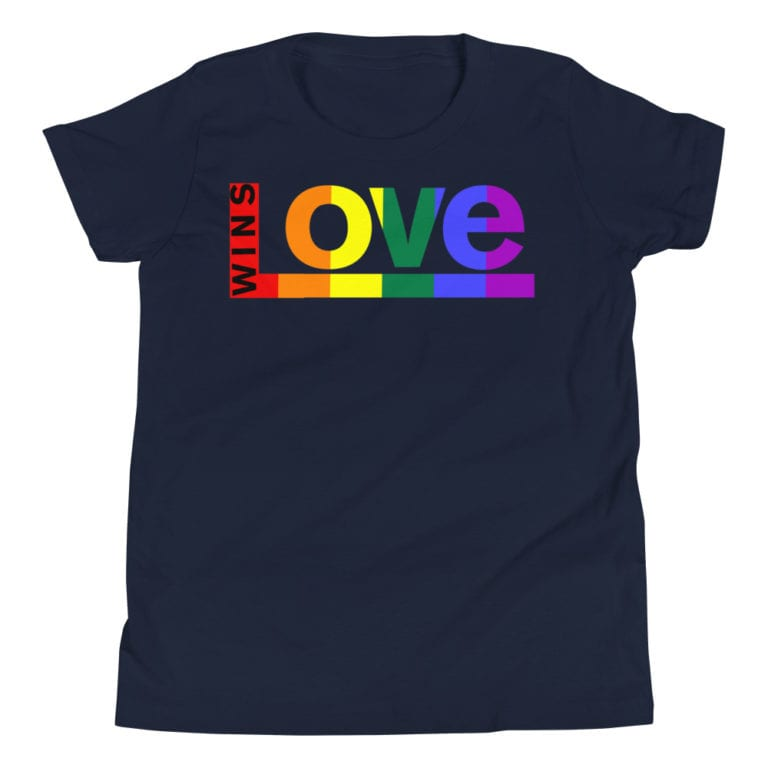 Love Wins! Kids Tshirt Navy