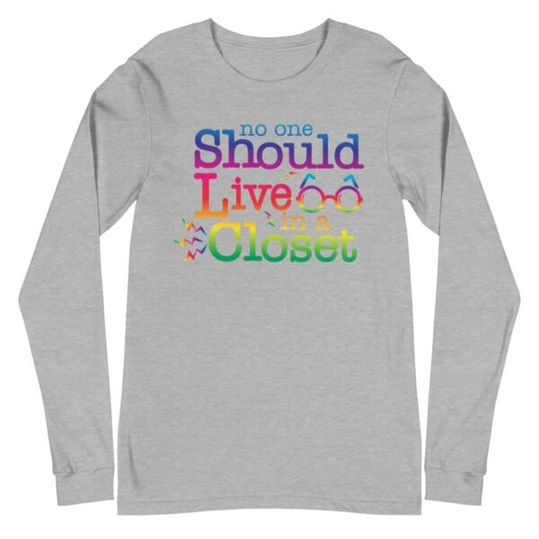 LGBTQ Pride Out of the Closet Long Sleeve Tshirt