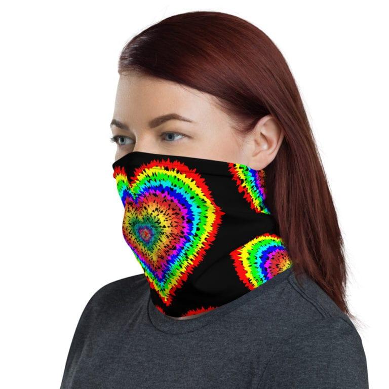 Pride Rainbow Tie Dye Neck Gaiter