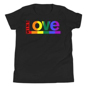 Love Wins! Kids Tshirt Black