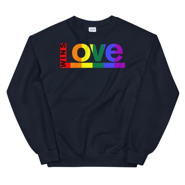 Love Wins LGBTQ Sweatshirt Navy