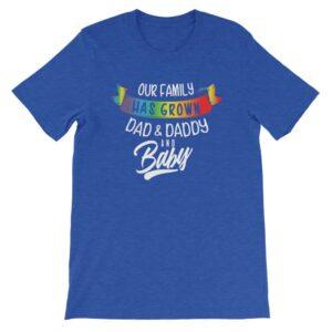 Gay New Dad & Daddy Rainbow T-Shirt