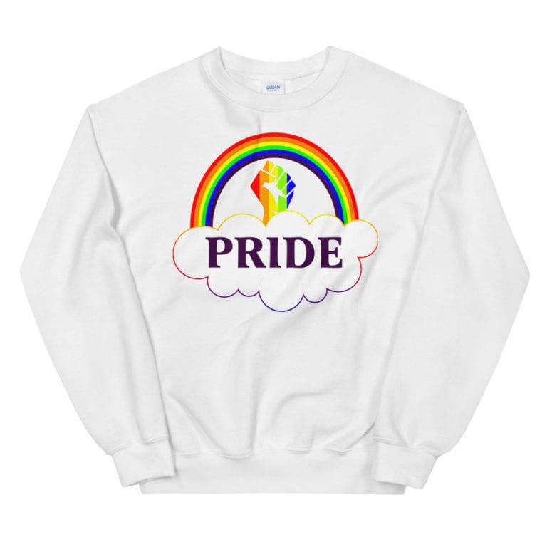 Fierce Pride #Resist LGBTQ Sweatshirt White