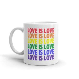 Love is Love LGBTQ Pride Coffee Mug