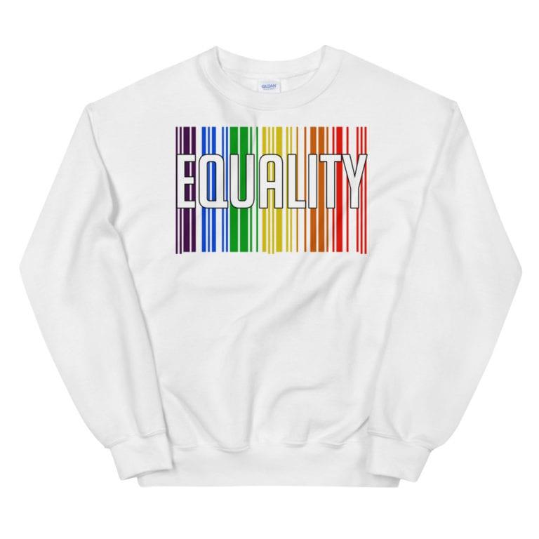 EQUALITY LGBTQ Sweatshirt White