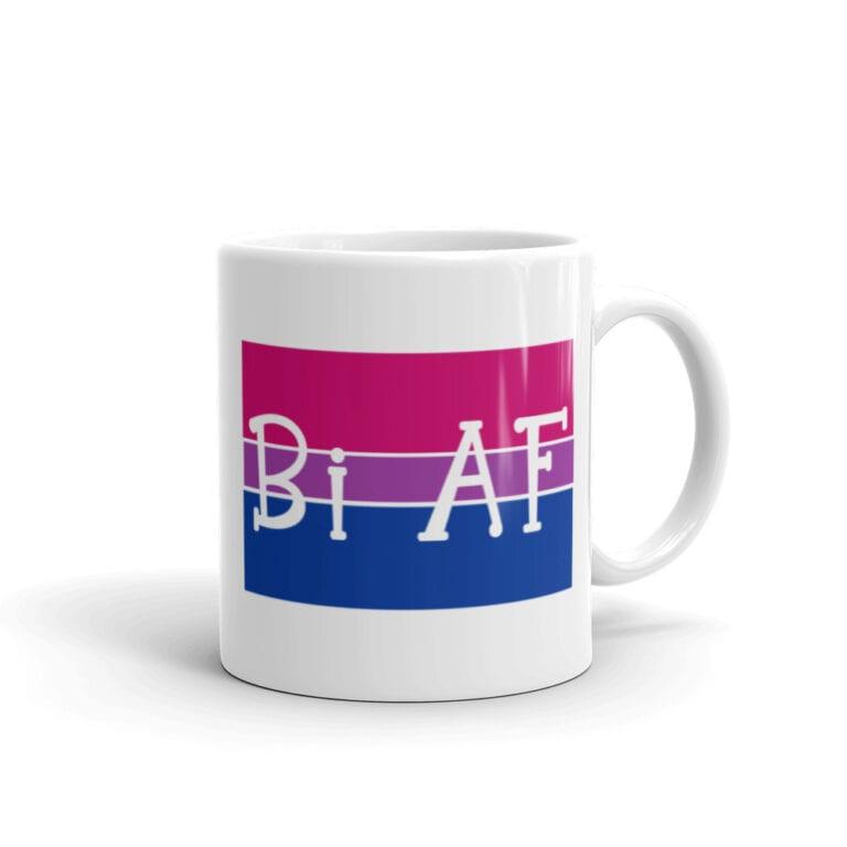 Bi AF Pride LGBTQ Coffee Mug