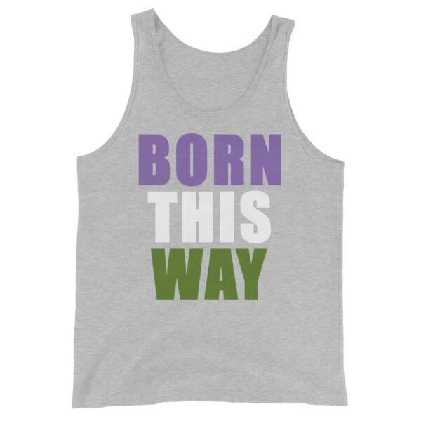 Genderqueer Born This Way Pride Tank Top