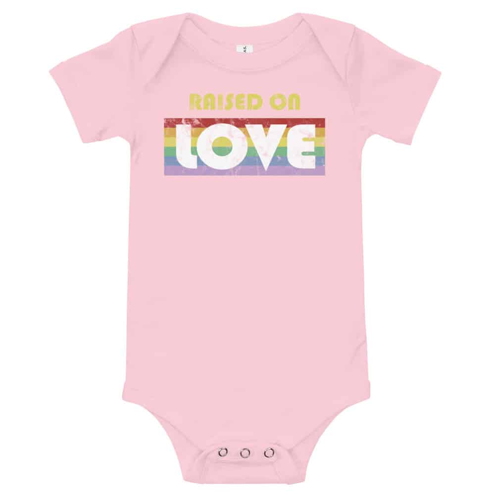 Raised on Love Pride Baby One Piece