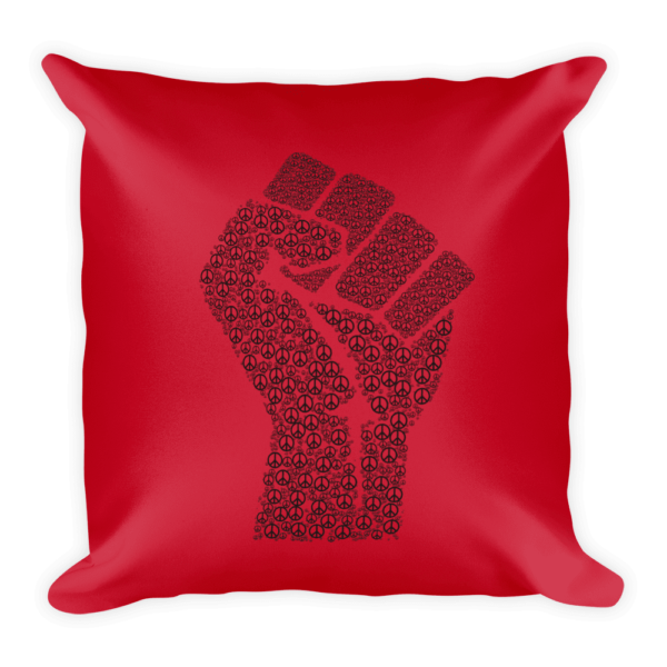 PRIDE Throw Pillow Peace Fist Red