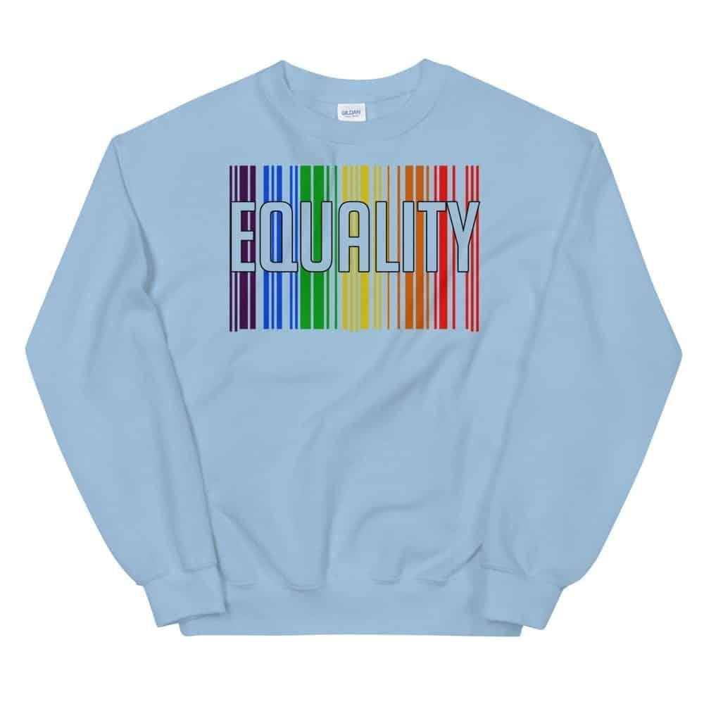 EQUALITY LGBTQ Sweatshirt Blue