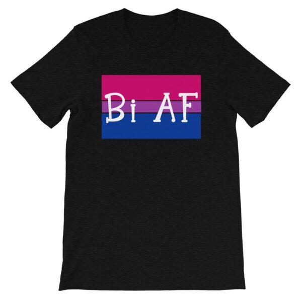 Bi AF LGBTQ Pride Tshirt Black