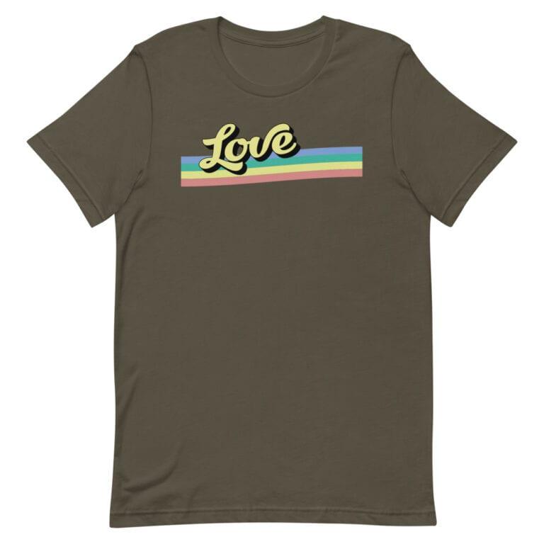 Retro Love Gay Pride Tshirt