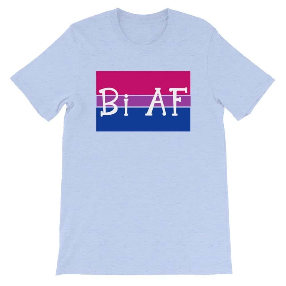 Bi AF LGBTQ Pride Tshirt light blue
