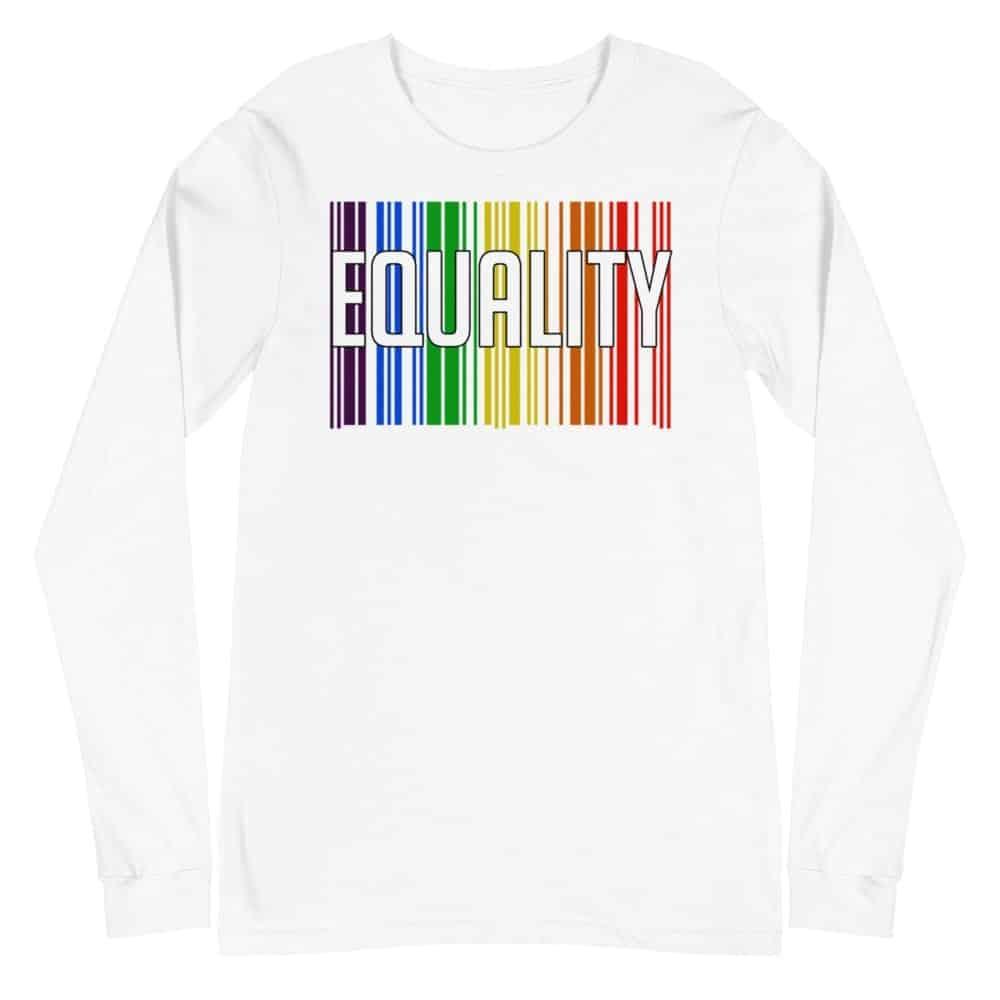 EQUALITY LGBTQ Long Sleeve Tshirt White