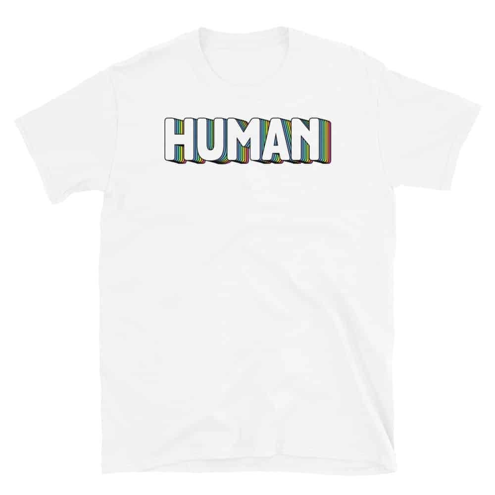 HUMAN Gay Pride Short Sleeve Tshirt