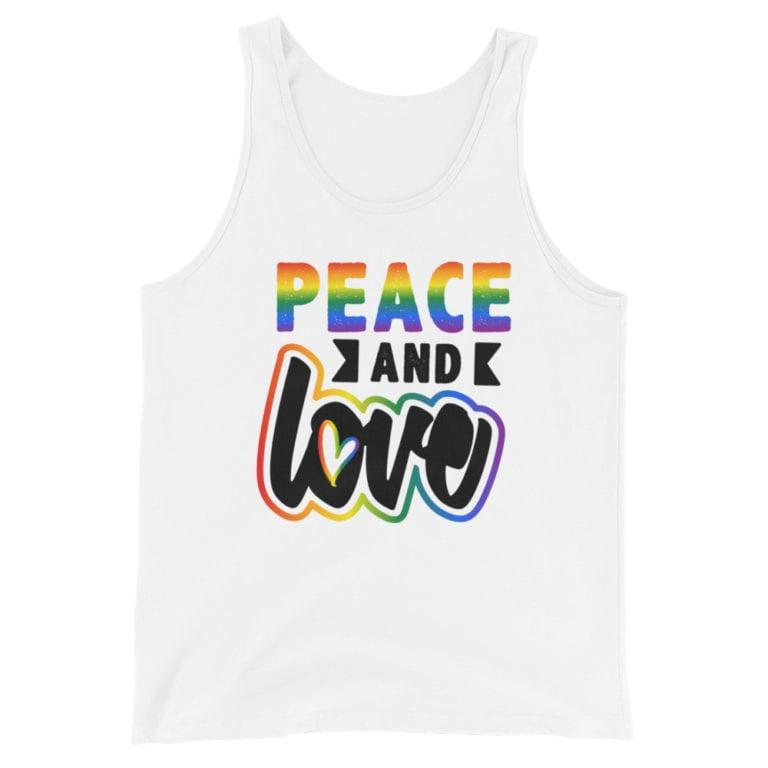 Peace & Love LGBTQ Pride Tank Top