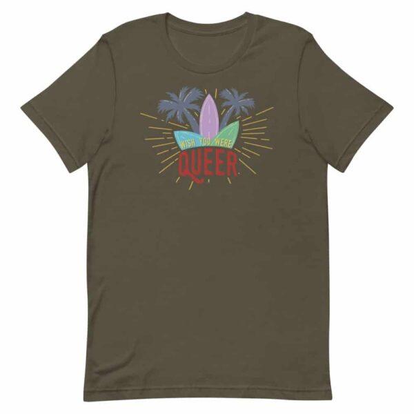 Wish You Were Queer Gay Pride Tshirt