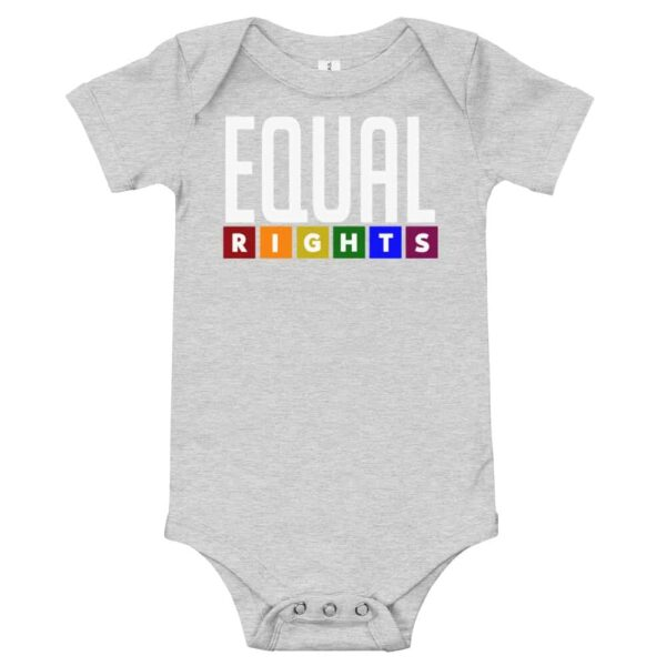 Equal Rights LGBTQ Pride One Piece Baby Bodysuit Grey