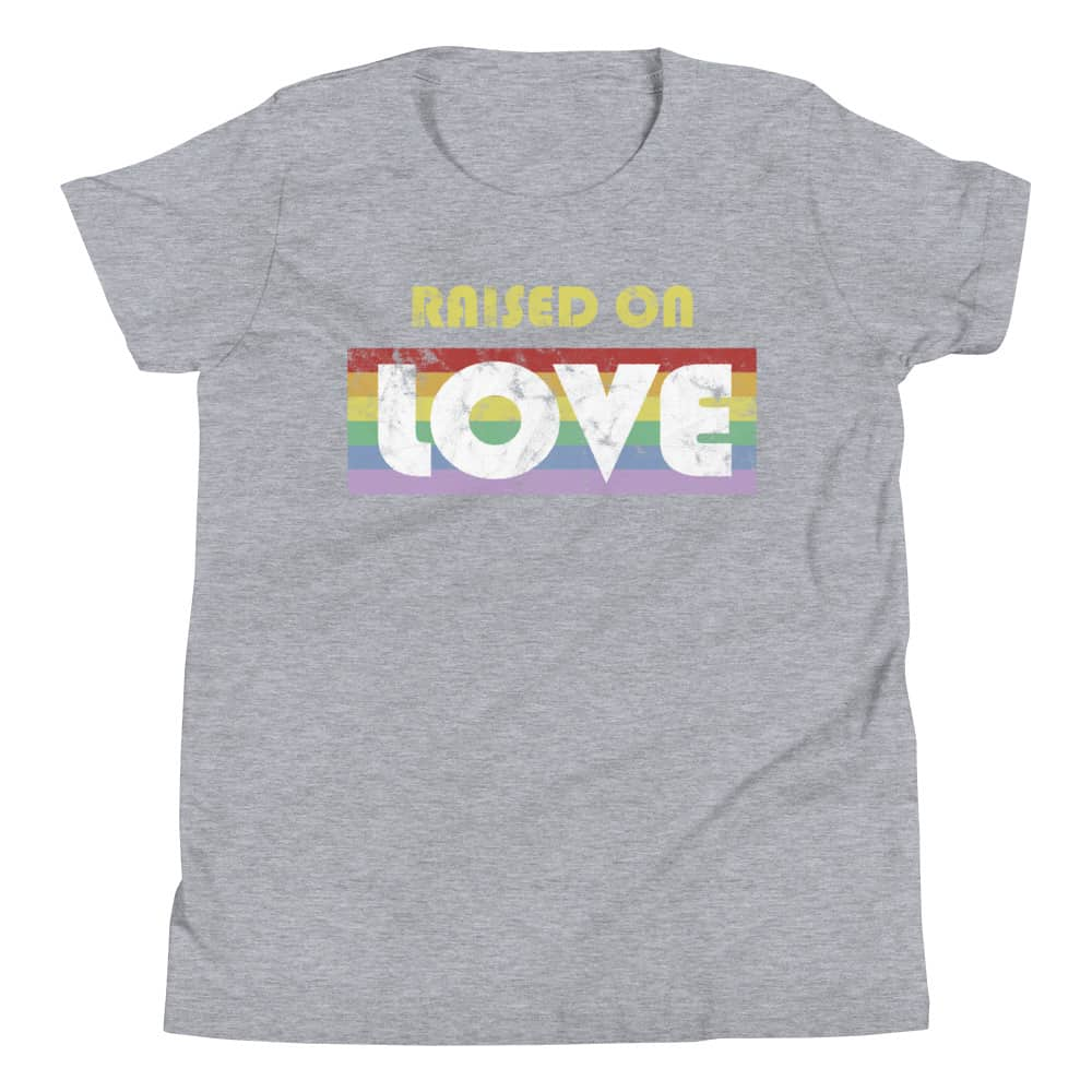Raised on Love LGBT Gay Pride Kid Tshirt