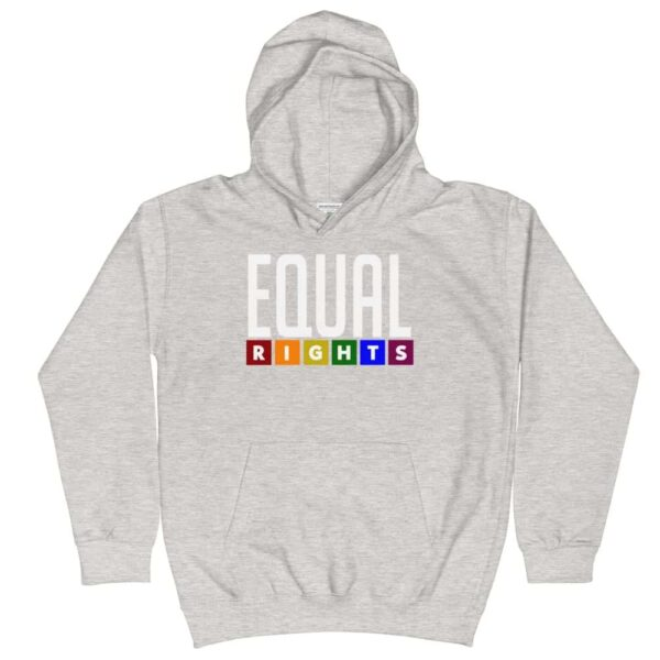 Equal Rights Pride Kid Hoodie Grey