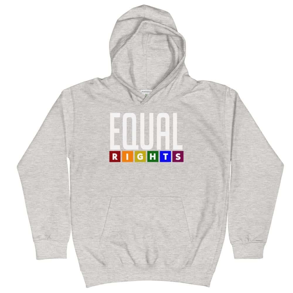 Equal Rights Pride Kid Hoodie Grey