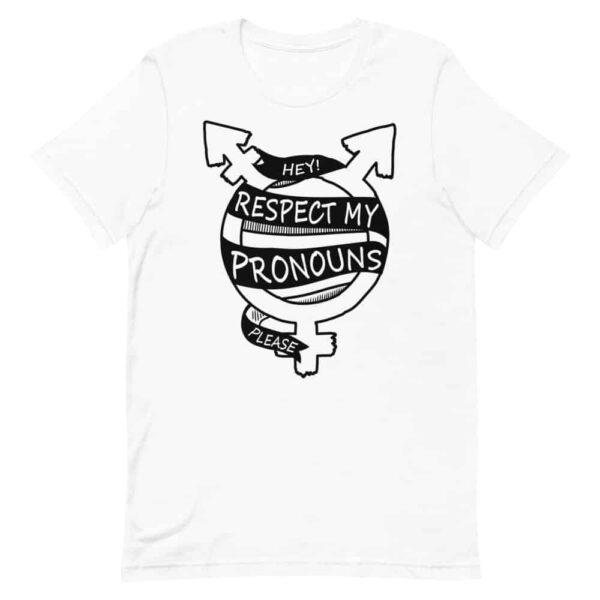 Respect My Pronouns Please Transgender Pride Tshirt