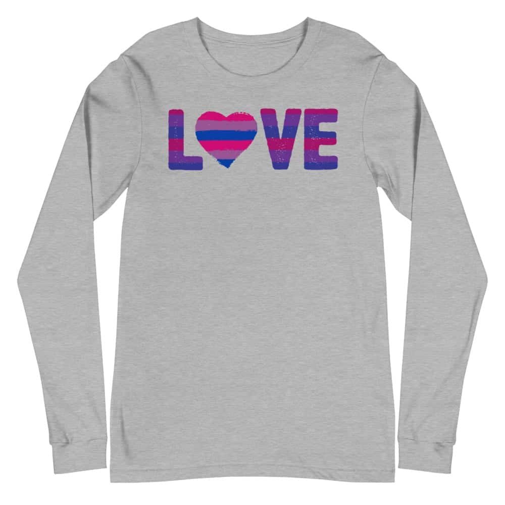 LGBTQ LOVE Bisexual Pride Long Sleeve Tshirt