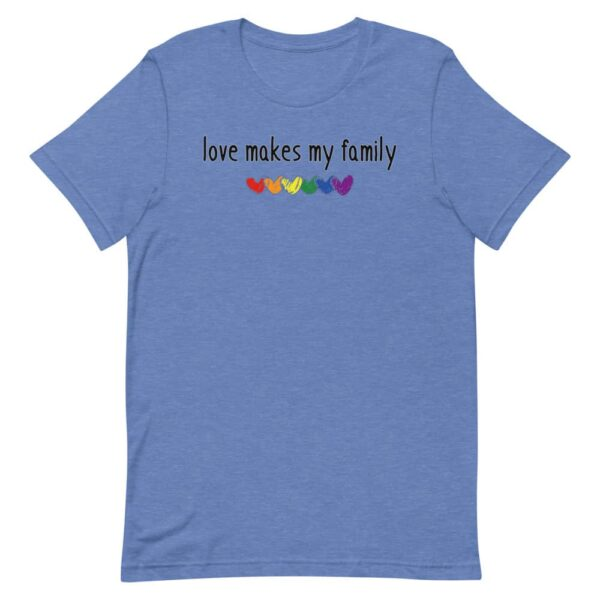 Family LGBT Gay Pride Tshirt Love Makes My Family
