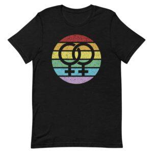 Retro Female Symbol Lesbian Pride Tshirt
