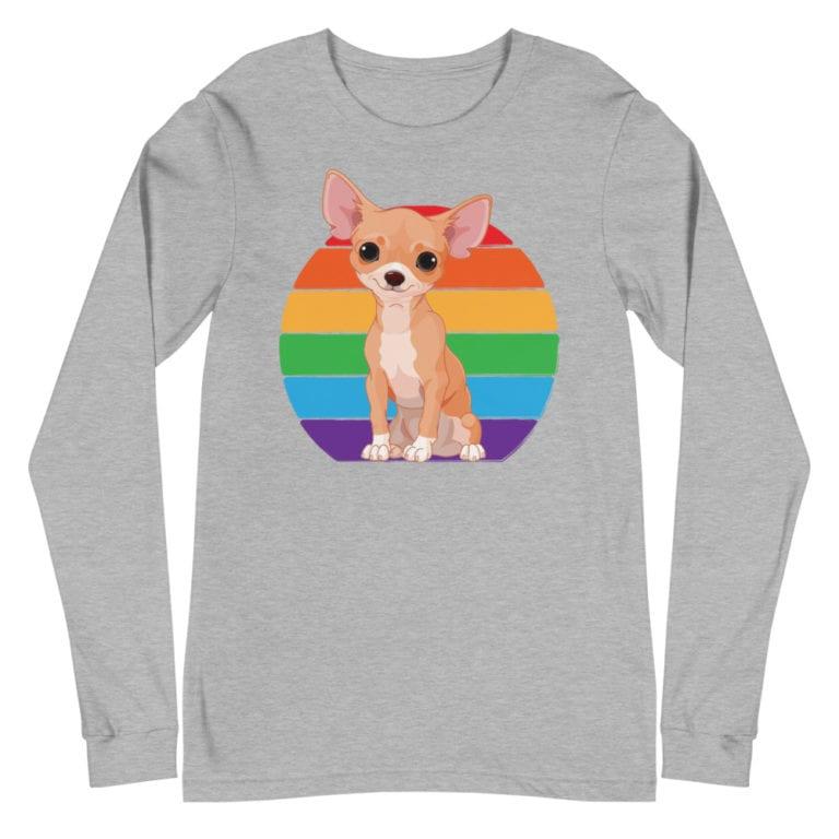Chihuahua Gay Pride Long Sleeve Tshirt