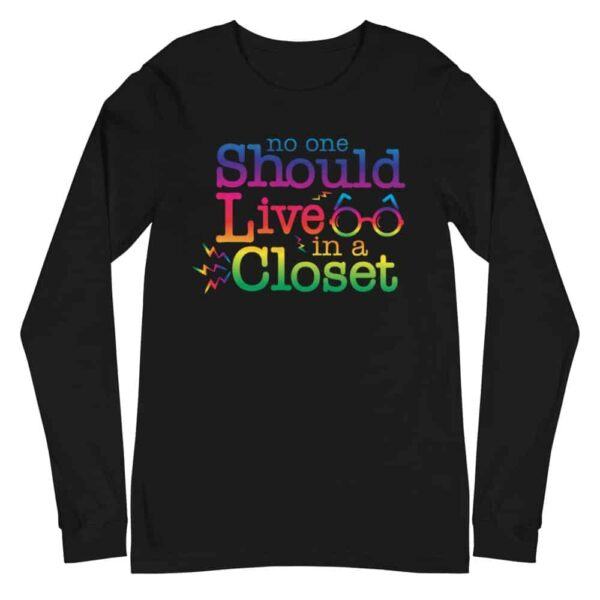 Out of the Closet Gay Pride Long Sleeve Tshirt