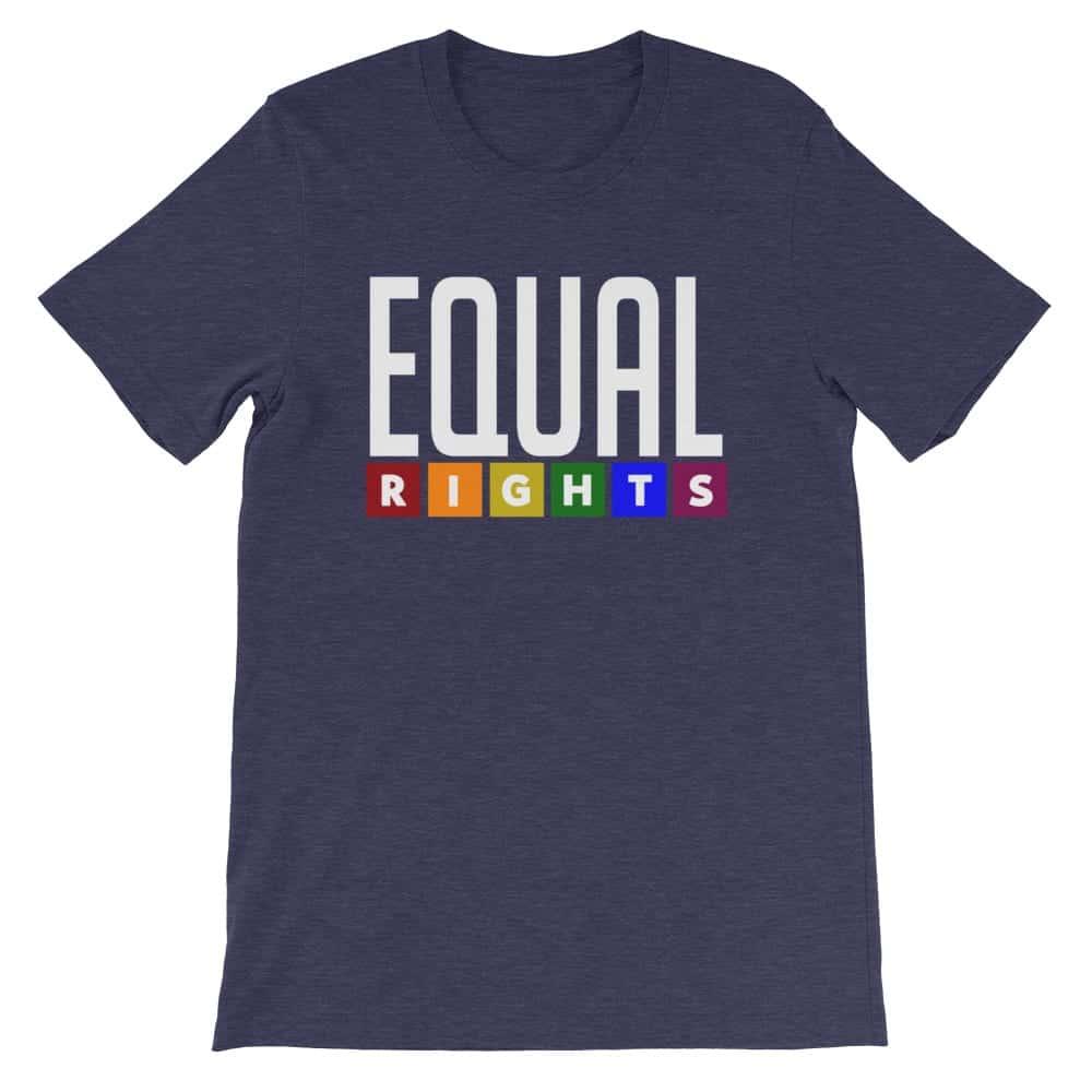 EQUAL RIGHTS LGBTQ Pride Tshirt Navy