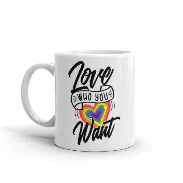 Love Who You Want LGBTQ Pride Coffee Mug
