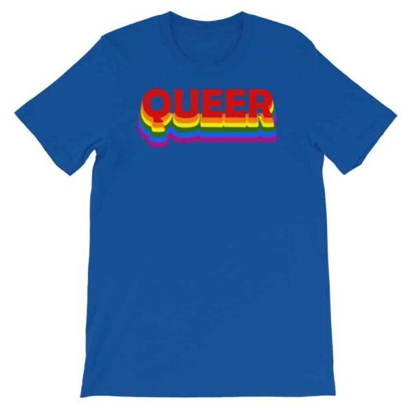 Queer LGBTQ Tshirt Blue