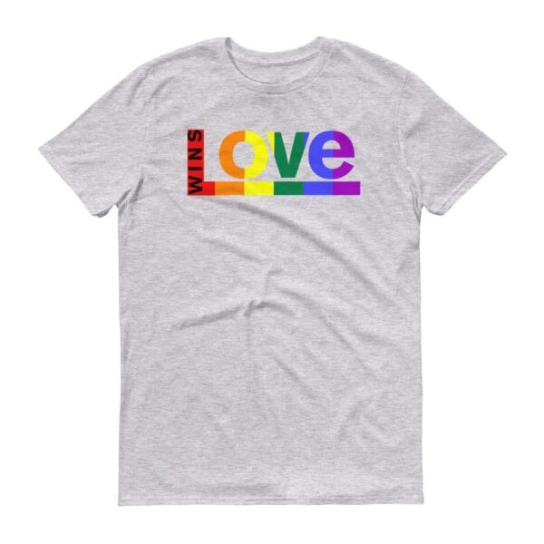 Love WINS LGBTQ Pride Tshirt Heather