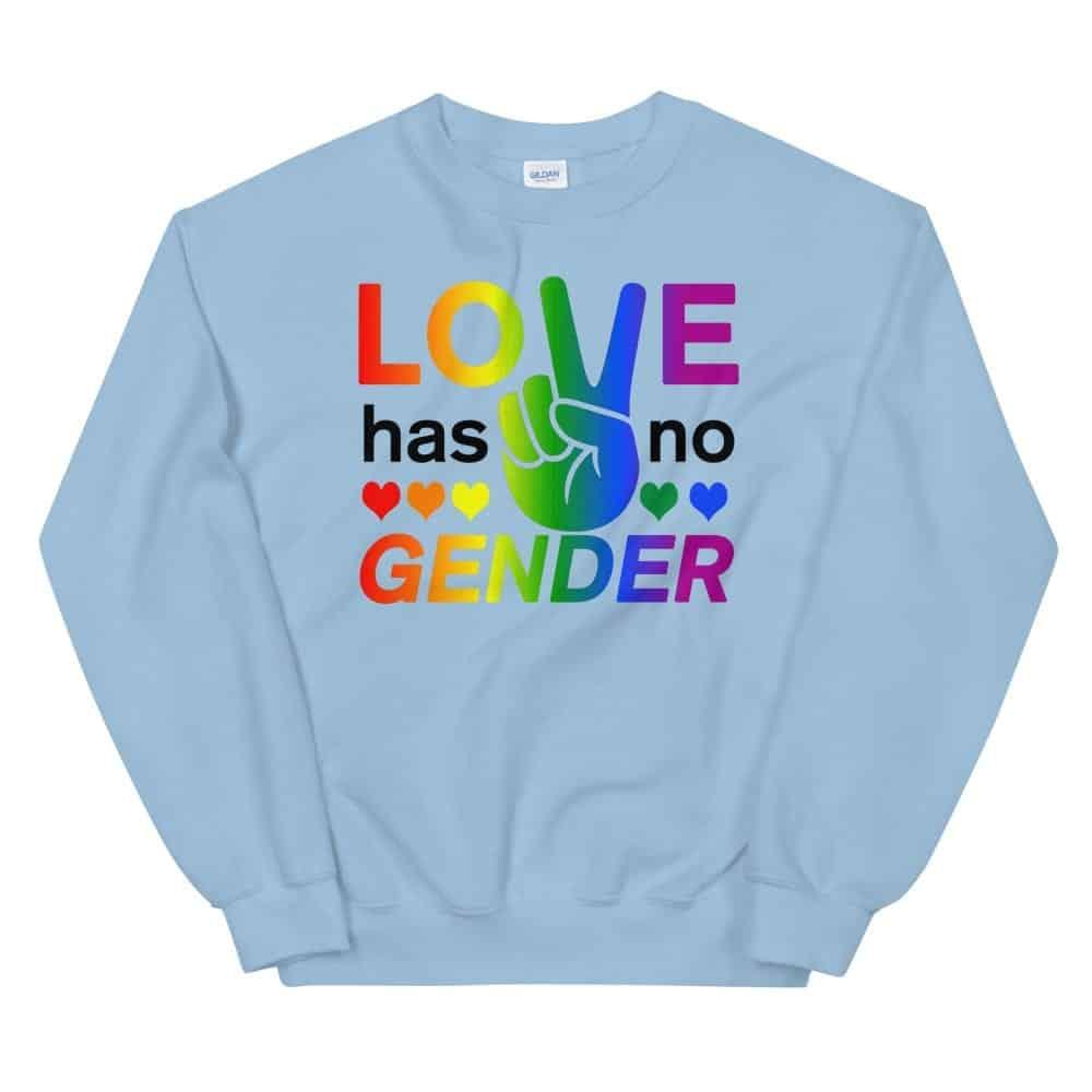 Love Has No Gender Sweatshirt Blue
