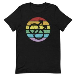 Retro Gay Male Symbol LGBTQ Pride Tshirt
