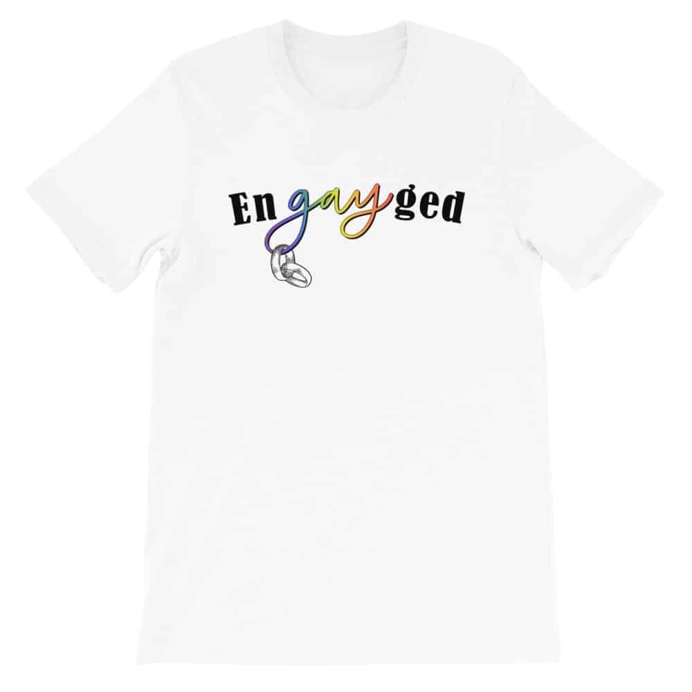enGAYged LGBTQ Pride Tshirt White